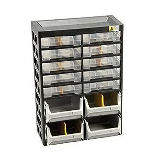 Allit 458140 Kleinteiledepot schwarz, gelb