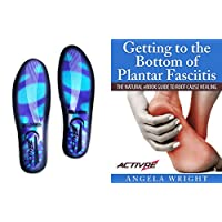 Activre Premium Orthotic Insoles - Plantar Fasciitis - Flat Feet - Heel Spur - Metatarsal Support - Fallen Arches - Including FREE Natural Treatment eBook (UK Women 7-11)