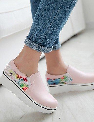 ShangYi gyht Scarpe Donna-Scarpe col tacco-Matrimonio / Tempo libero / Formale / Casual-Comoda / Punta arrotondata-Plateau-Finta pelle-Nero / Rosa / Pink