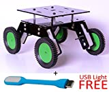 #3: DIY 4WD - Smart Car Chassis 4WD / Racing Car / Robot Car Chassis, rover chassis - 4WD ground clearance chassis for arduino/robotic projects + freebie gift