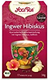 Yogi Tee, Ingwer Hibiskus Ayurvedische Teemischung, Biotee, 17 Teebeutel, heiß & kalt, Zutaten aus kontrolliert ökologischem Anbau, 34g