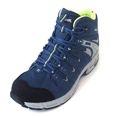Meindl  2047-29 Snap Junior Mid,  Scarponcini da camminata ed escursionismo ragazza Grigio jeans/verde Grigio (jeans/verde)