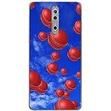 Es regnet Cricketbälle Hartschalenhülle Telefonhülle zum Aufstecken für Nokia 8