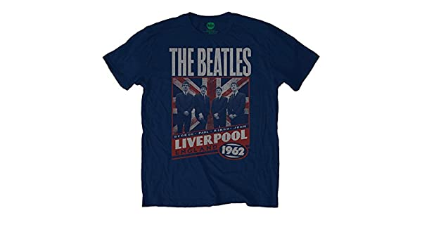 the latest c82e7 729ac The Beatles Live Liverpool 1962 John Lennon Official Tee T ...