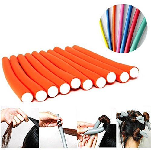 Seema Magic Hair Foam Rollers Soft Twist Curler Rods For Your Hair - 10 Pieces