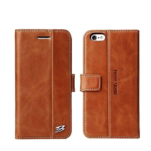 Wendapai iPhone 6 iPhone 6s 4.7 inch Brieftasche Multi Karte Holder STO?Stange Man Folio PU Leder Hülle mit Man Hülle zum iPhone 6 iPhone 6s 4.7 inch-Brown