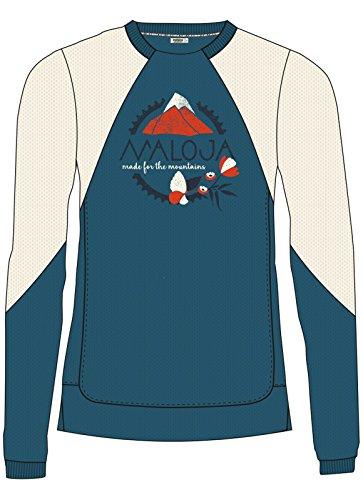 Maloja ursinam. Camicia e apparecchio maglietta, Donna, Donna, UrsinaM., Blu (Blueberry), M Blu (Blueberry)