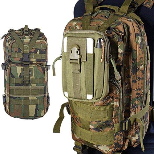 Taktische Hüfttaschen Molle Tasche Klein Gürteltasche für Outdoorsport Camping Wandern Pusheng Tarnung2
