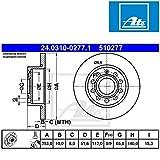 ATE 24.0310-0277.1 Rotores de Discos de Frenos, Set de 2