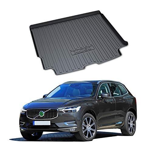 YEE PIN Kofferraummatte Gummi Kofferraumwanne für Volvo XC60 SPA 2018-2019 | Seitenschutz Gummimatte Laderaumschale Schutzmatte für Sicheren Transport von Gepäck Rutschfester Autozubehör