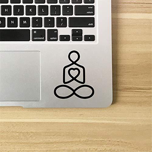 daufkleber Schlafzimmer Yoga Meditation Pose Mit Herz Namaste Aufkleber Für Laptops Autos Tassen Wasserflaschen Dekoration für auto laptop fenster aufkleber ()