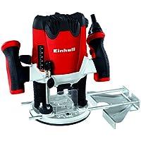 Einhell RT-RO 55 Fresadora, 1200 W, 230 V, control electrónico, profundidad de fresado regulable, Gris y Rojo