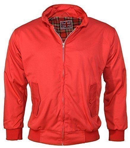 Urban Couture Clothing, Unisex Bomberjacke Harrington - Rot - 3XL