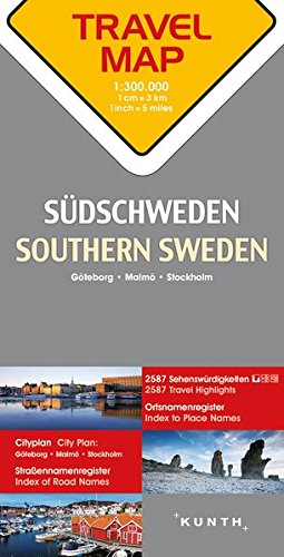 Reisekarte Südschweden 1:300.000: Travel Map Southern Sweden: Alle Infos bei Amazon
