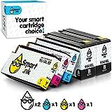 Smart Ink Compatible Remplacement des Cartouches d'encre pour HP 950XL 951XL 950 XL 951 XL High Yield 5 Pack (2BK & C/M/Y) pour HP Officejet 8100 8600 8610 8620 8630 8640 8660 8615 8625 251DW 276DW