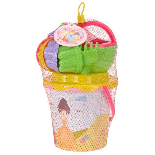 Sandkasten Strandspielzeug Set im Prinzessin Design    mit Eimer, Sieb, Rechen und Förmchen