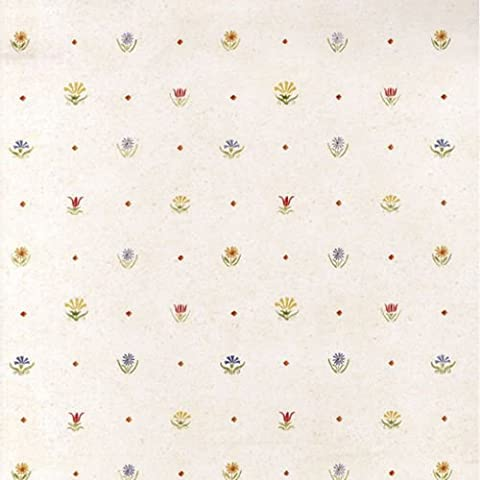 SZ002308 - Coeur du Blanc Floral Dot Polka multicolore Wallpaper