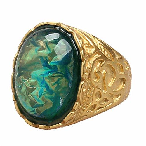 oakky-uomo-acciaio-inossidabile-carved-fiore-modello-annata-oval-pietra-preziosa-anello-placcato-oro