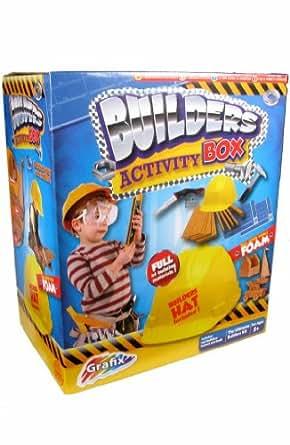 Grafix – Builders Activity Box – Coffret du Petit Bricoleur avec Casque de Chantier