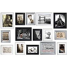 Conjunto de Marcos de Fotos con RD15 Imágenes, Marco de Fotos, Conjunto de Marcos de Fotos de Pared con 15 Marcos de Alta Calidad, Conjunto de marcos de ...