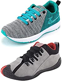 Ethics Perfect Sea Green Air Breathing Running Sports Shoes & Grey Red Running Sports Shoes For Men
