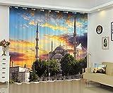 Waple Foto von Schloss 3D Fenster Vorhang Für Wohnzimmer 240X260CM