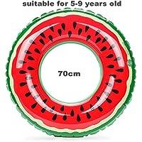 ZHANGJIANJUN PVC Inflable Piscina de Natación de Flotación de Sandía Anillo para Niños Adultos 60cm 70cm 80cm 90cm 120cm,70cm