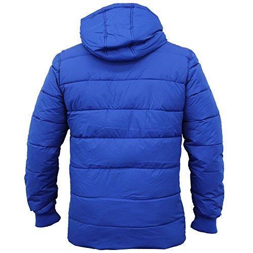 Herren-jacken Threadbare Mantel Gesteppt Gepolstert Mit Kapuze Blase Puffer Gefüttert Winter Kobalt - DMV037PKC