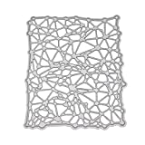 Eliky Stanzschablone aus Metall, unregelmäßiges Muster, für Scrapbooking, Album, Stempel, Papier, Karten, Prägung, Basteln