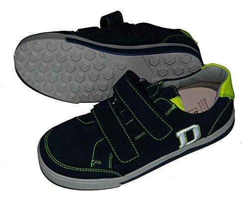 Däumling Sneaker, Jungen Schuhe, Halbschuhe, Lederschuhe, Klettschuhe marine (Turino tiefsee)