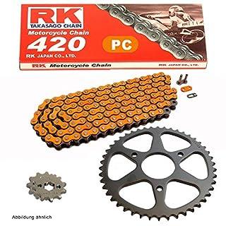 Kettensatz Gilera SMT 50 2006 Kette RK PC 420 SB 130 offen ORANGE 11/53