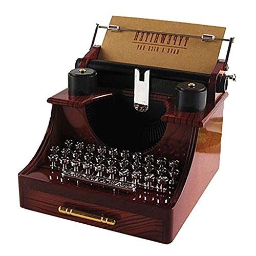 Der Kostüm Klänge Musik - smartcoco Vintage Schreibmaschine Musik Box Creative Gifts/Home/Office/Study Room Dekoration