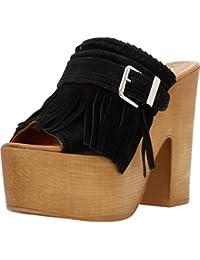 ALPE Zuecos Para Mujer, Color Negro, Marca, Modelo Zuecos Para Mujer 3433 11 Negro