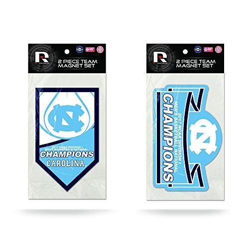 Rico NCAA North Carolina Tar Heels 2017 Herren National Basketball Champions 2er Pack Magnet Set Carolina Blue White 27,9 x 21,6 cm Champions Auto-magnet