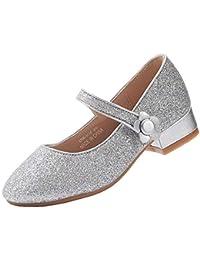 EIGHT KM Niñas Tacones Bajos Mary Jane Vestido Formal Zapatos de salón