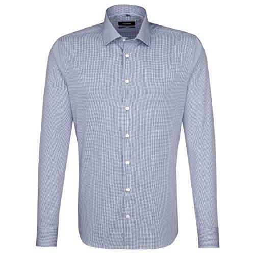 Seidensticker Herren Business Hemd Tailored Langarm Kent-Kragen Bügelfrei