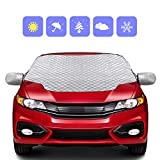 Picture Of Zenoplige Car Windscreen Frost Cover Snow Magnetic Cover Windshield Sun Protector Waterproof Dust Cover and Ice Protector in All Weather Car Cover with Two Mirror Covers(147×120cm)