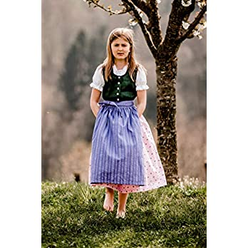 Dirndl mit Bluse und Schürze Gr.92-128 Ausseer Mädchen Baby Kinder Grün Rosa Violett