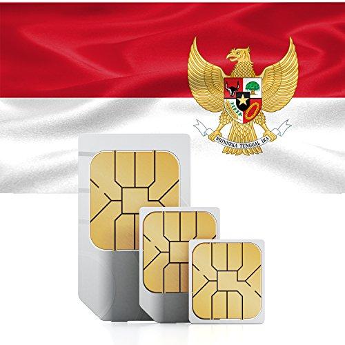 travSIM Indonesien Prepaid Daten SIM Karte + 1GB für 30 Tage - Standard,Micro & Nano SIM