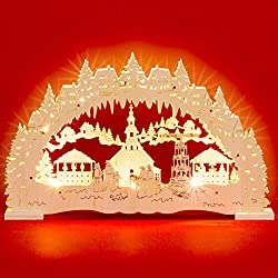 SIKORA LB48 illuminated LED wood candle arch SEIFFENER CHRISTMAS MARKET including transformer