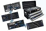 BGS 3318 Metall-Werkzeugkoffer mit 143 Werkzeugen, 3 Schubladen