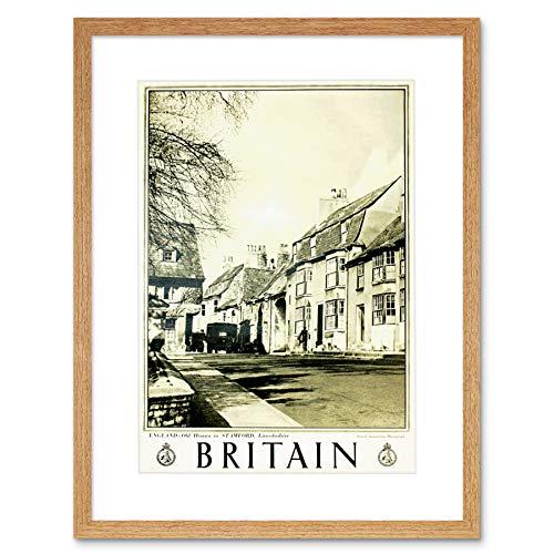 TRAVEL STAMFORD LINCOLNSHIRE ENGLAND BRITAIN VILLAGE TOWN UK ART PRINT B12X7992