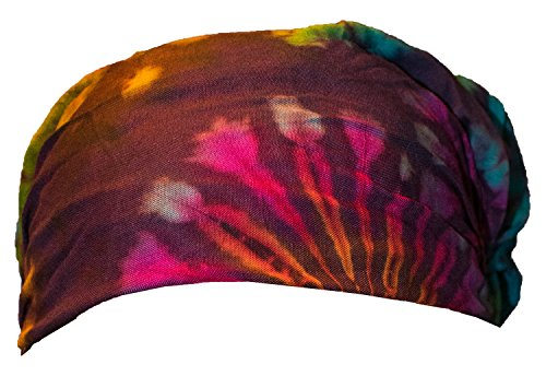 Batik Tie Dye Kopftuch Stirnband Kopfband Hippie Rayon Head Band Beach Strand (Gummibänder Tie Dye)