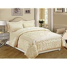 couvre lit matelass de luxe beige. Black Bedroom Furniture Sets. Home Design Ideas