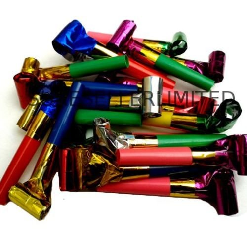 Let's Party Party Blowers Blowouts Birthday Loot Bag Filler Noise Toy Foil Colors 40 x by Let's Party