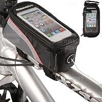supporto bici porta iPhone 4 - 4s - 5 - 5c - 5s custodia impermeabile touch bicicletta
