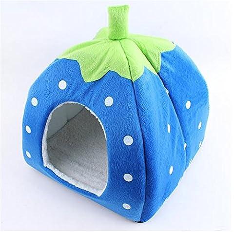 Uni meilleure Cute Pet Maison Fraise Tente de lit pour chien chat Petits Animaux Rest Sleep Intérieur ou extérieur de voyage amovible Niche