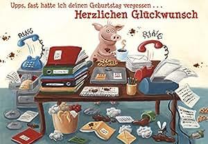Rigolo pour cochon carte geburtstagsw nsche avec enveloppe format b6 frais de port gratuits - Amazon frais de port gratuit ...