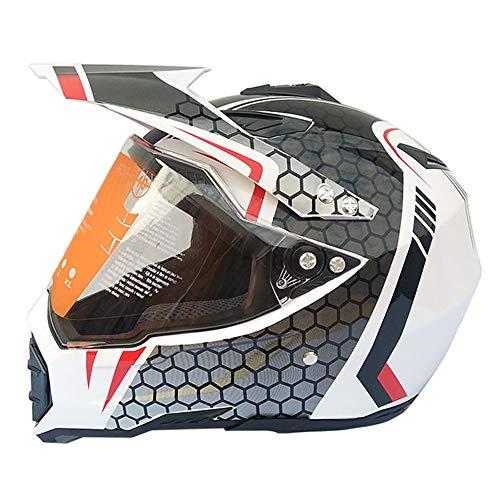 Lxc Personalizzazione Esclusiva Casco Moto da Pista per Fuoristrada da Corsa Completamente Coperto di Four Seasons Motocross, Modello Maschile Guida sicura (Size : M)