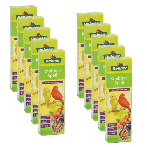 Dehner Knabberspaß mit Frucht für Kanarien, 10 x 2 Stück, 1er Pack (1 x 900 g)